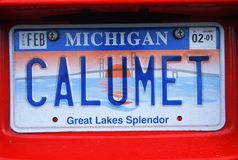 License Plate  in Michigan Royalty Free Stock Photography