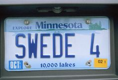 License Plate  in  Minnesota Royalty Free Stock Image