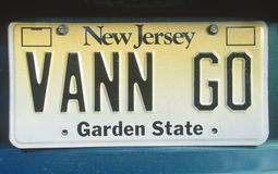 License Plate   in  New Jersey Royalty Free Stock Images