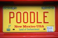 License Plate  in New Mexico Royalty Free Stock Image