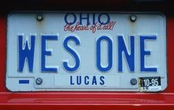 License Plate  in  Ohio Stock Photo