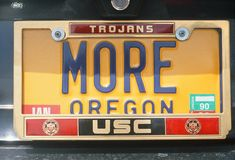 License Plate   in  Oregon Royalty Free Stock Images