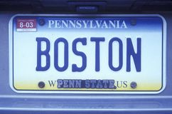 License Plate  in Pennsylvania Royalty Free Stock Photo