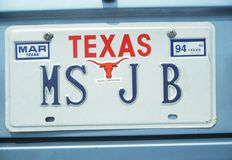 License Plate  in Texas Royalty Free Stock Images