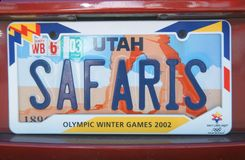 License Plate  in  Utah Royalty Free Stock Photography