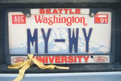 License Plate  in Washington Royalty Free Stock Photo