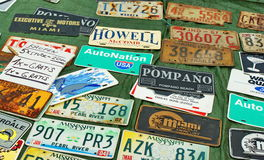 License plates Stock Photos