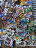 License plates from many states Royalty Free Stock Photography