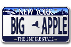 License plates NY Royalty Free Stock Image