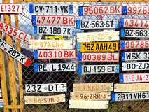 license plates royalty free stock image