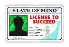 License to Succeed Permission for Successful Life. A License to Succeed made out to You at the address Here, issued Now and Expiring Never, representing the vector illustration