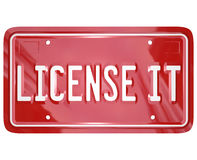 License It Vanity Plate Approval Authorization Royalty Free Stock Photos