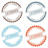 Licensed badge isolated on white background. Royalty Free Stock Photos