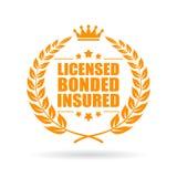 Licensed bonded insured business icon