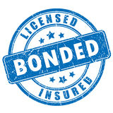 Licensed bonded insured rubber stamp Royalty Free Stock Photo