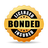Licensed bonded insured vector icon Royalty Free Stock Photo