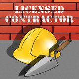 Licensed Contractor Means Qualified Builder 3d Illustration. Licensed Contractor Builder Hat Means Qualified Builder 3d Illustration Royalty Free Stock Image
