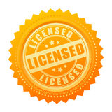 Licensed gold seal certificate icon Royalty Free Stock Photo
