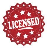 Licensed grunge stamp Royalty Free Stock Photos