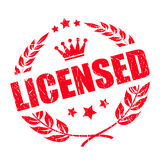 Licensed legal product vector stamp Stock Photo