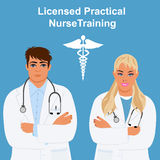 Licensed practical nurse training concept, vector illustration Stock Images
