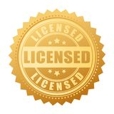 Licensed product vector gold seal royalty free illustration
