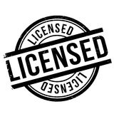 Licensed stamp rubber grunge Royalty Free Stock Photos