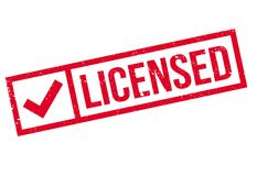 Licensed stamp rubber grunge Royalty Free Stock Image