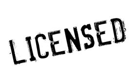 Licensed stamp rubber grunge Stock Images