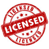 Licensed vector stamp Stock Image