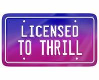 Licenserat för att hänföra modellen Fun Drivi för bil för fåfängaplatta den spännande nya Fotografering för Bildbyråer