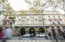 Liceo big theater, Barcelona, Spain Stock Image