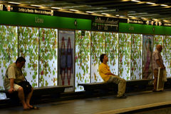 Liceu metro station in Barcelona Royalty Free Stock Photo