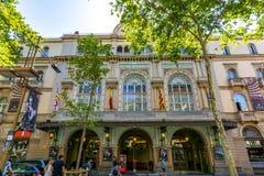 Liceutheater op de straat van La Rambla, Barcelona, Spanje royalty-vrije stock afbeeldingen