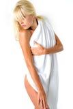 Lichaam in handdoek royalty-vrije stock foto
