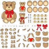 Lichaamsdelen van een beer in de vector Stock Fotografie
