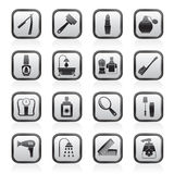 Lichaamsverzorging en schoonheidsmiddelenpictogrammen Royalty-vrije Stock Afbeeldingen