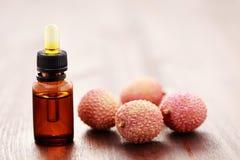 Lichee essential oil Stock Photo