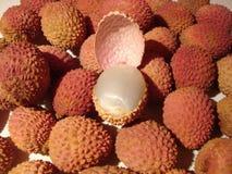 Ripe lychee fruit stock photos