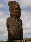 Lichen Covered Moai Royalty Free Stock Images