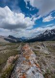 Lichen Covered Rock Fin orange sur le passage de Wilcox Photographie stock libre de droits