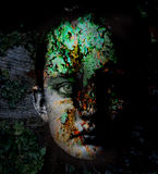 Lichen Face. Girl with lichen on face Royalty Free Stock Photos