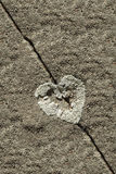 Lichen in form of heart on sandstone Royalty Free Stock Photo