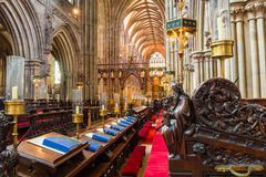 Lichfield Cathedral Choir Stock Images
