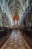 Lichfield Cathedral Choir and Nave Royalty Free Stock Photography