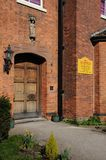 Lichfield Cathedral School entrance. Royalty Free Stock Images
