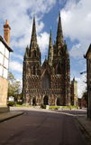Lichfield Cathedral West Front Stock Images