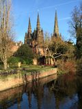 Lichfield Cathedral Royalty Free Stock Images