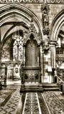 Lichfield Katedralny baldachim, HDR sepiowy brzmienie Fotografia Royalty Free