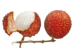 Lichi. Litchi isolated on white background Royalty Free Stock Image